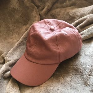 NEVER WORN Faux Leather Baseball Cap